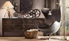 I would build my entire library around this Restoration Hardware chair.