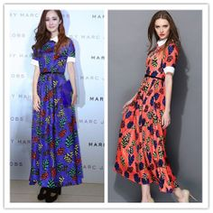 women 2014  new summer and spring fashion casual long sexy dress free shipping size S M L H031910  floral print runway dress $83.00