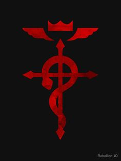 The logo of the famous anime and manga: fullmetal alchemist.
