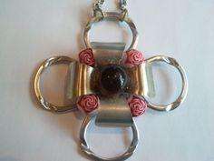 Soda pop can tab necklace silver craft hippie by BrightCloset, $17.76
