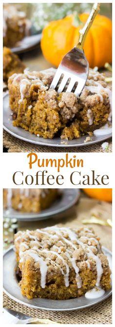 Pumpkin Coffee Cake via @sugarspunrun