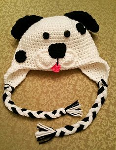 A Spotty puppy hat that I created  Pattern credit for half of the hat goes  to  Repeat Crafter Me fb76bb190b2