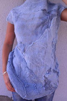 Top infeltrito maglione infeltrito donne luce grigio nuno