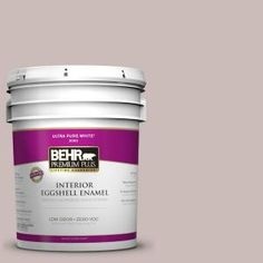 BEHR Premium Plus 5-gal. #750A-3 Vintage Taupe Zero VOC Eggshell Enamel Interior Paint 240005 at The Home Depot - Mobile