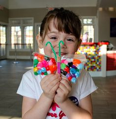 Butterfly Craft with jelly beans