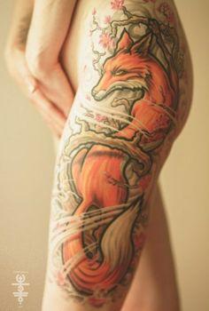 Oriental Fox Tattoo