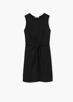Side slit dress   MANGO