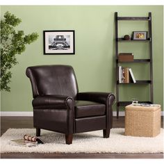 Faux Leather Club Chair, Brown