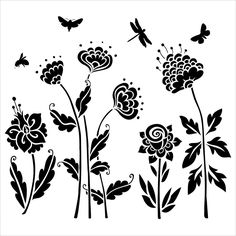 "The Crafter's Workshop Template 6""x6"" - Flying Garden"