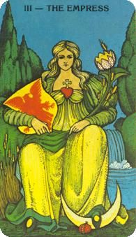 February 13 Tarot Card: The Empress (Morgan-Greer deck) Connect with your unique beauty and your nurturing nature now -- in femininity lies incredible lightness and strength