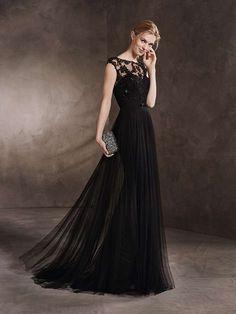 b6ca28443f1a Vestidos de ceremonia San Patrick  fotos colección 2017 - Vestido elegante  en negro con tul