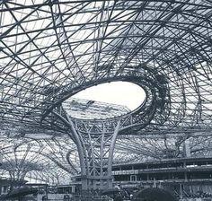 Space Truss, Truss Structure, Roof Truss Design, Roof Trusses, Amazing Spaces, George Washington Bridge, Louvre, Building, Instagram Posts