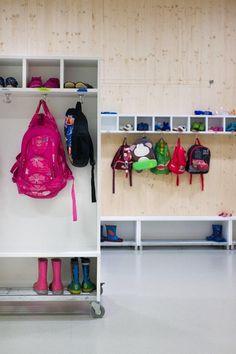 Šmartno Kindergarten designed by Jure Kotnik   most furniture is on wheels for easy manipulation of space