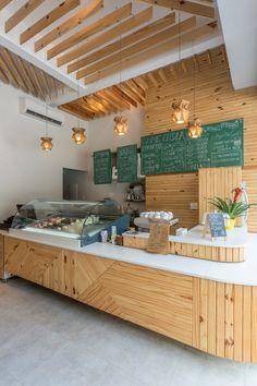 Cafe Shop Design, Coffee Shop Interior Design, Bakery Design, Store Design, Modern Restaurant Design, Deco Cafe, Small Coffee Shop, Café Bar, Counter Design