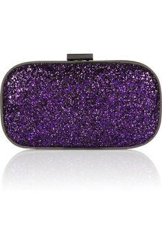 Anya Hindmarch Marano Dancer LED-lit glitter-finished clutch