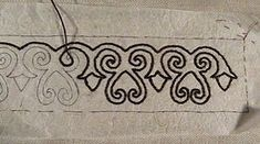 in which our plucky heroine documents both the process and the hours involved in creating embroidered decoration. (begun October I. Viking Garb, Viking Dress, Viking Costume, Medieval Costume, Viking Ship, Norse Clothing, Medieval Clothing, Embroidery Patterns, Hand Embroidery