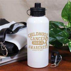 Childhood Cancer Awareness Athletic Dept. Water Bottle