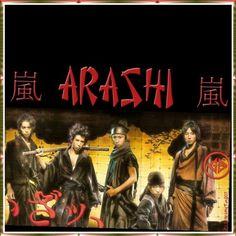 """"""" Samurai """" ~ Arashi ~ ~ Jun Matsumoto ~ Kazunari Ninomiya ~ Satoshi Ohno ~ Sho Sakurai ~ Masaki Aiba"""
