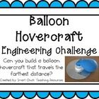 Balloon Hovercraft: Engineering Challenge Project ~ Great STEM Activity!