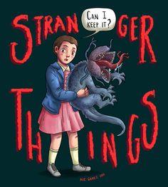 Fanart de Stranger Things para aflojar la mano luego de tantos días sin dibujar…