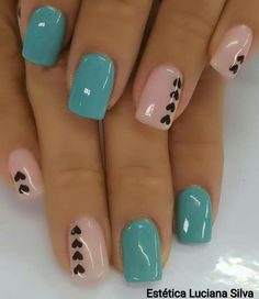 70 Simple Nail Design Ideas That Are Actually Easy - Nails : 70 Simple Nail Design Ideas That Are Actually Easy 70 Simple Nail Design Ideas That Are Actually Easy,Work! 70 Simple Nail Design Ideas That Are Actually Easy Related Acryl Coffin Nails. Fancy Nails, Diy Nails, Cute Nails, Cute Acrylic Nails, Nail Nail, Cute Simple Nails, Teal Nails, Brown Nails, Black Nails