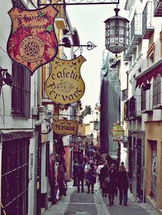 Love these alley street signs.. Cuesta de los Gomérez, Granada   Spain
