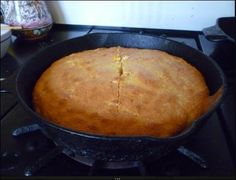 Cornbread, baked in my 100 year old skillet, in my 1947 Wedgewood stove.  http://www.examiner.com/article/cornbread-let-us-break-bread-together