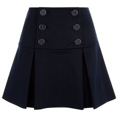 A fashion look from April 2015 featuring short skirts. Browse and shop related looks. Flared Mini Skirt, Mini Skirts, Blue Skirts, Box Pleat Skirt, Cool Outfits, Fashion Outfits, Navy Skirt, Flare Skirt, Fashion Clothes