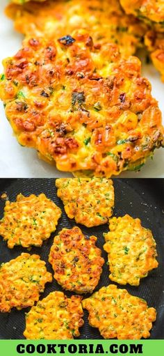 These easy Corn Fritters are sweet, delicate, and filling. They can be prepared with fresh, frozen, or canned corn. Tasty Vegetarian Recipes, Vegetable Recipes, Corn Fritter Recipes, Canned Corn Recipes, Appetizer Recipes, Dinner Recipes, Appetizers, Easy Corn Fritters, Vegetable Dishes