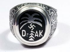 AFRICA CORPS WW2 GERMAN SILVER RING  http://germanring.lv/en/dak/751-africa-corps-ww2-german-silver-ring.html