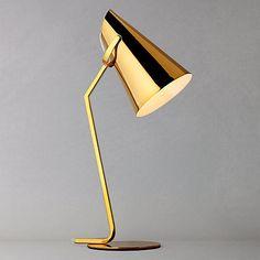John Lewis Allie Table Lamp, Gold