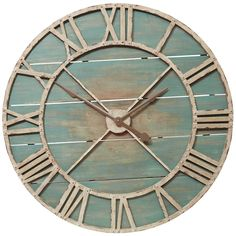 Oversize Teal Rustic Wall Clock   Pier 1 Imports