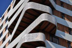 Tower Hatert, 24H Architecture, nijmegen, social housing, sedum roof, fsc certified wood, the netherlands