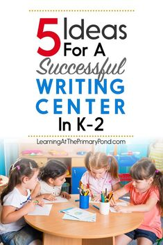 Need some writing center ideas for your Kindergarten, first grade, or second grade literacy centers / Daily This post has 5 strategies you can use to make your writing center a hit! - Learning at the Primary Pond Writing Center Kindergarten, Teaching Writing, Writing Activities, Literacy Centers, Writing Ideas, Teaching Ideas, Writing Centers, Writing Lessons, Writing Resources