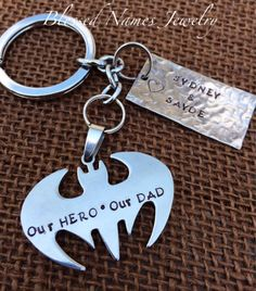 Great personalized gift for all the BATMAN loving dads.  Custom any way you like.