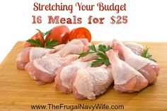 Stretching Your Grocery Budget! Get 16 meals for $25! Find out my money saving tip!