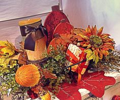 It's getting cold outside! Make it warm and welcoming inside! Add Autumn decor with all it's fantastic colors. www.rodworks.com