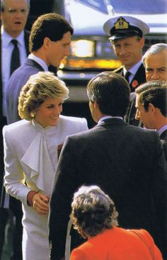 November 11, 1985: Prince Charles & Princess Diana during a visit to J.C. Penney's Department Store in the Springfield Mall, Springfield, Virginia.