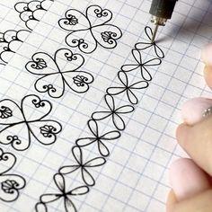 Mandala Art Lesson, Mandala Doodle, Mandala Drawing, Zen Doodle, Doodle Art, Doodle Patterns, Zentangle Patterns, Border Pattern, Pattern Design