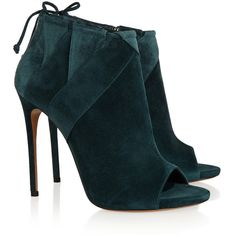 Casadei Suede ankle boots ($475) ❤ liked on Polyvore featuring shoes, boots, ankle booties, suede boots, zipper boots, short boots, suede ankle booties and high heel bootie