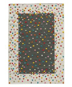 Take a look at this Charcoal & Natural Confetti Flatweave Wool-Blend Rug today!