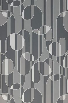 Spacey retro wallpaper Asenio in white and shades of grey is a true eye-catcher. The curved pattern dynamic is emphasised by a tactile relief. Office Wallpaper, Art Deco Wallpaper, Graphic Wallpaper, Retro Wallpaper, Wallpaper Samples, Vinyl Wallpaper, Pattern Wallpaper, Tile Patterns, Textures Patterns