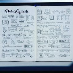 Beautiful Header Examples #headers #bulletjournal #bujo by Abby H. from Bullet Journal Junkies FB Group