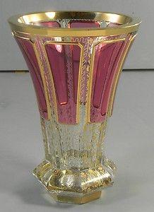 Listovane Czech Bohemian Art Glass Vase Cranberry Gold  http://www.ebay.com/itm/Listovane-Czech-Bohemian-Art-Glass-Vase-Cranberry-Gold-/370602941988?pt=LH_DefaultDomain_0=item5649a81e24#ht_3603wt_754