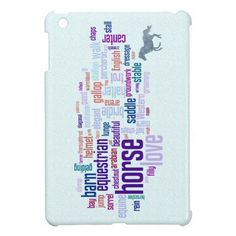 Horse Love Word Cloud Art Case For The iPad Mini