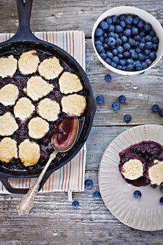 Blueberry Skillet Cobbler. Yum!