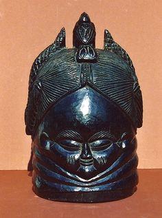 Martin and Osa Johnson Safari Museum – 17-380 Mende Sande Society Helmet Mask (sowei)