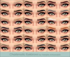 My Sims 4 Blog: Eyebrows - All