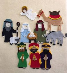 Great for a Christian home school, a Sunday School class or a Bible study class for young children. Use this Nativity set to teach the Christmas Story. These are hand drawn patterns to make felt cutouts to be used on a felt or flannel board. Please note that this pattern is hand