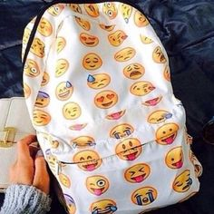 Nasty Gal Emoji Canvas Backpack White background color with yellow emoji print all over. Great condition (used once, light, unnoticeable dirt markings on the outside, has not been washed). Canvas. 17.5 inches height x 13 inches width. 1 front zip pocket. 1 large main opening with 2 zippers. All zippers in tact and functioning properly. Adjustable shoulder straps. Nasty Gal Bags Backpacks